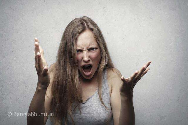damage to yourself under the influence of anger
