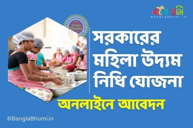 Mahila Udyam Nidhi Yojana: Apply online, download the application form PDF